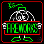 Bomb Fire Work 1 Neon Sign
