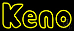 Keno With Oval Border 1 Neon Sign