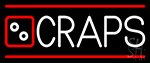 Craps With Hand Logo 2 Neon Sign