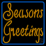 Cursive Seasons Greetings1 Neon Sign