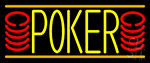 Double Storke Poker 6 Neon Sign