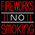 Double Stroke Fire Works No Smoking 3 Neon Sign