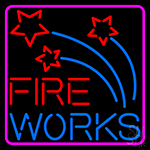 Fire Work Multi Color 1 Neon Sign