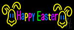 Multicolor Happy Easter Neon Sign