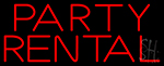 Party Rental Neon Sign