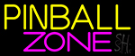 Pinball Zone 4 Neon Sign