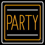 Party Border 2 Neon Sign