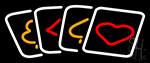 Poker Cards Icon 1 Neon Sign