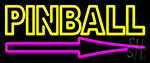 Pinball With Arrow 2 Neon Sign
