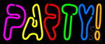Double Stroke Party 1 Neon Sign