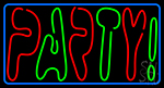 Double Stroke Party 3 Neon Sign