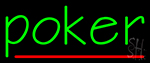 Vertical Poker 1 Neon Sign