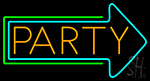 Party With Arrow Neon Sign