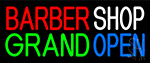 Barber Shop Grand Open Neon Sign