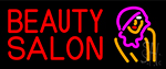 Beauty Salon With Girl Neon Sign