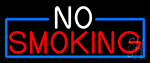 Block No Smoking Neon Sign