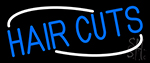 Blue Hair Cuts Neon Sign