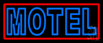 Blue Motel Double Stroke And Red Border Neon Sign