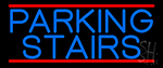 Blue Parking Stairs Neon Sign