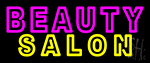 Double Stroke Pink Beauty Yellow Salon Neon Sign