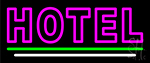 Double Stroke Pink Hotel Neon Sign
