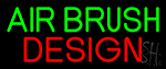 Green Air Brush Design Neon Sign