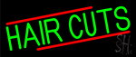 Green Hair Cuts Neon Sign