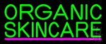 Green Organic Skincare Neon Sign