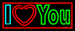 I Love You Neon Sign