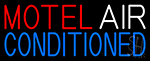 Motel Air Conditioned Neon Sign
