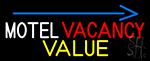 Motel Vacancy Value With Arrow Neon Sign