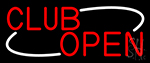 Red Club Open Neon Sign