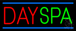 Red Day Spa Green Neon Sign