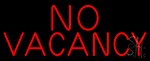 Red No Vacancy Neon Sign