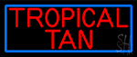 Red Tropical Tan Neon Sign