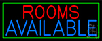 Rooms Available Vacancy With Green Border Neon Sign