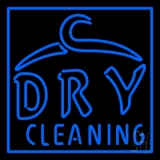 Blue Dry Cleaning Neon Sign
