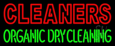 Double Stroke Cleaners Organic Dry Cleaning Neon Sign