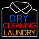 Dry Cleaning Laundry Neon Sign