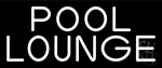 White Pool Lounge Neon Sign