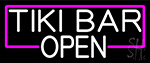 White Tiki Bar Open Neon Sign