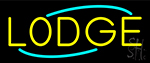 Yellow Lodge Neon Sign