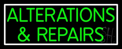 Green Alterations And Repairs Neon Sign