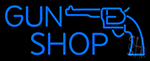 Blue Gun Shop Neon Sign