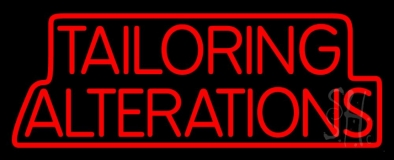 Red Tailoring Alterations Neon Sign