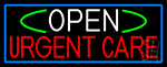 Open Urgent Care With Blue Border Neon Sign