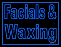 Blue Facial And Waxing Neon Sign