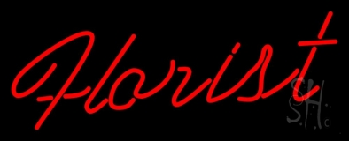Cursive Red Florist Neon Sign