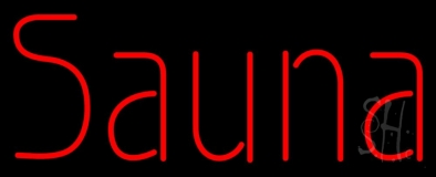 Red Sauna Neon Sign