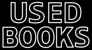 Double Stroke Used Books Neon Sign